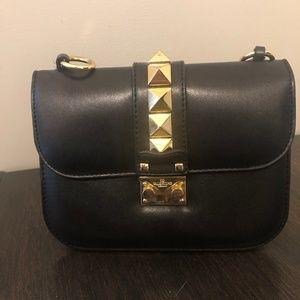 Rockstud Glam Lock Small Flap Bag Black